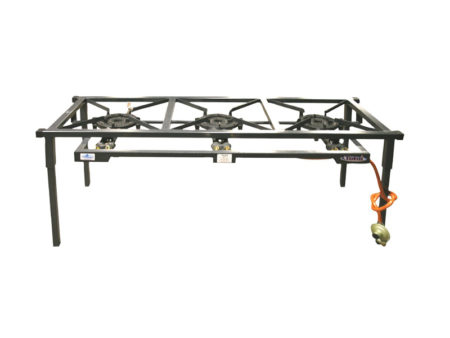 3 POT GAS STOVE BOILING TABLE