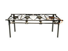4 POT GAS STOVE BOILING TABLE