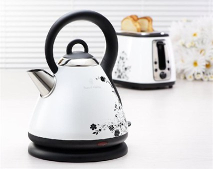 6002322009284 RUSSELL HOBBS HERITAGE WHITE FLORAL KETTLE